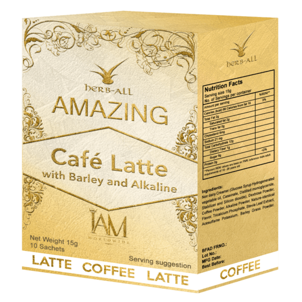 Amazing Cafe Latte with Barley and Alkaline